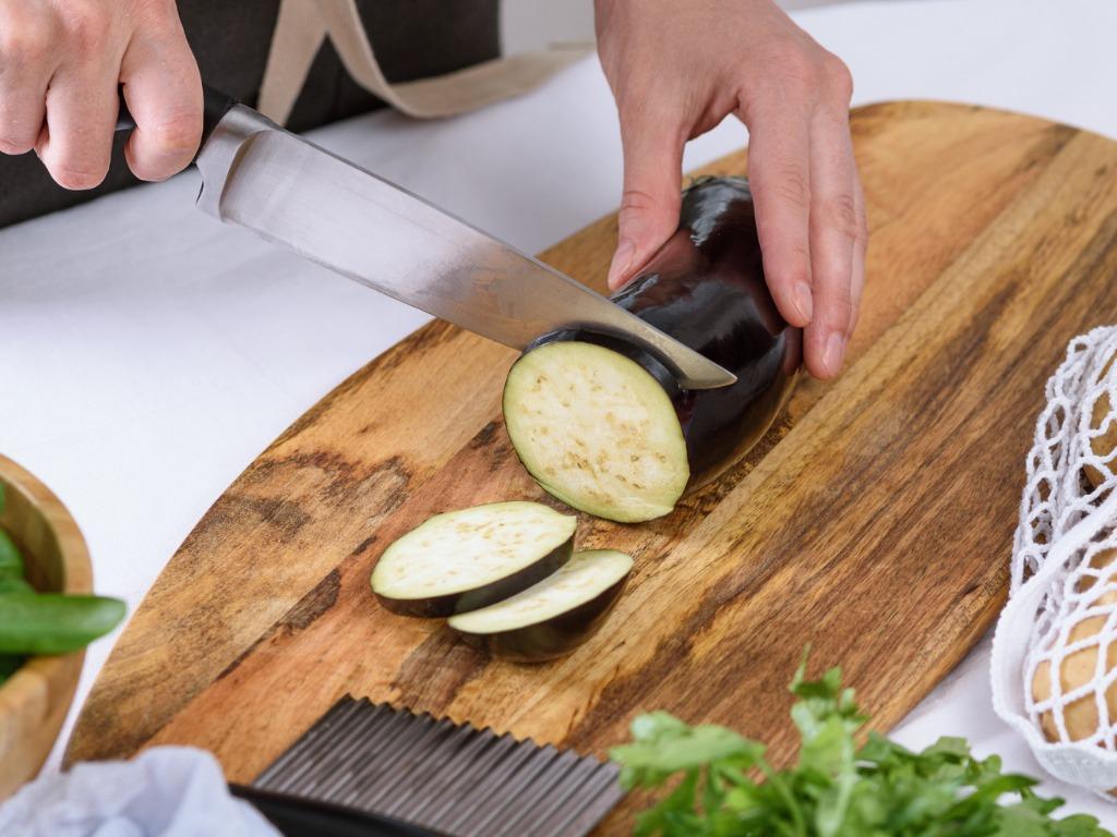 Tranches aubergines pour tarte