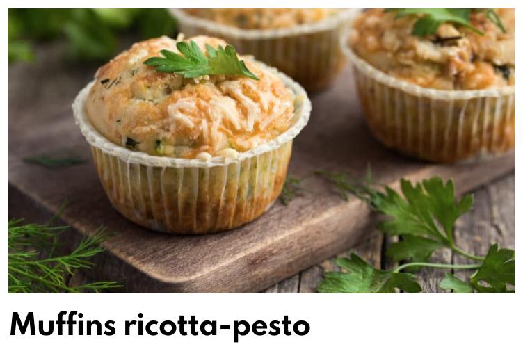 Muffins ricotta pesto