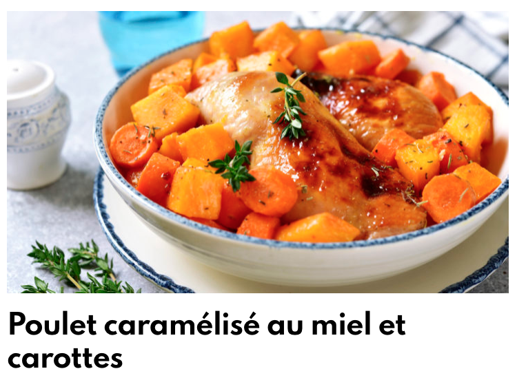 Poulet caramélisé carottes