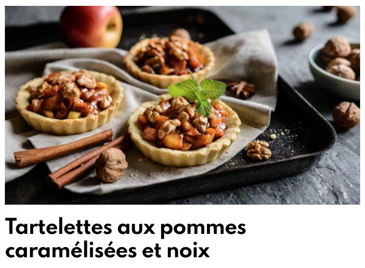 Tartelette pommes noix