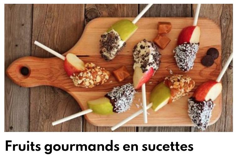 Sucette fruit chocolat