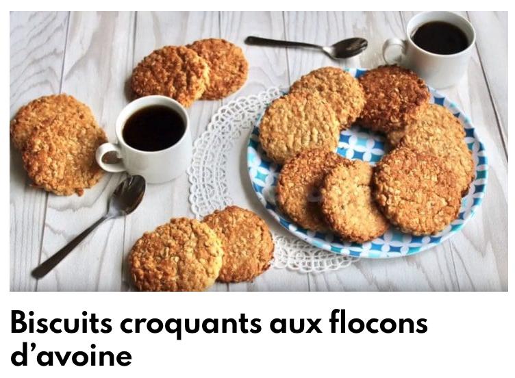 Biscuits croquants aux flocons d'avoine